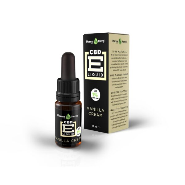 01 PharmaHemp CBD E Liquid vanilla 10ml 1p COMPLETE w mar2017