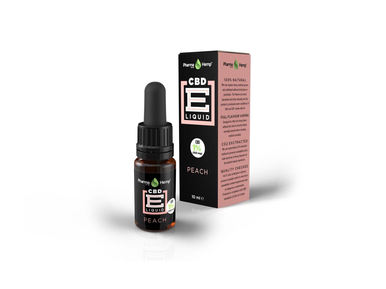 07 PharmaHemp CBD E Liquid peach 10ml 1p COMPLETE w mar2017