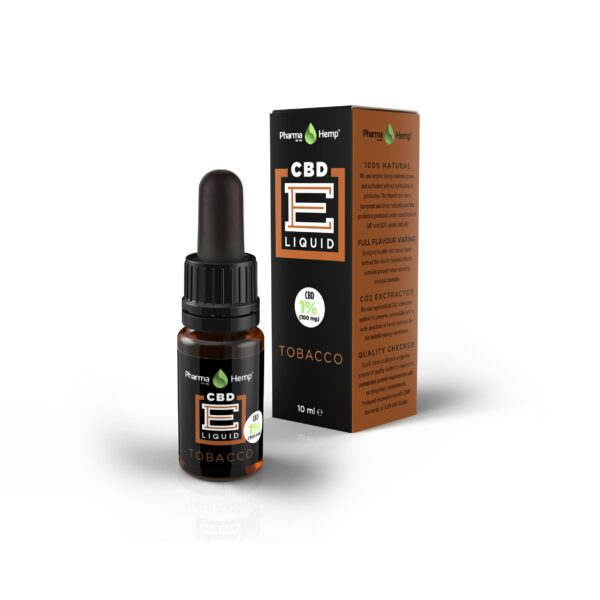 10 PharmaHemp CBD E Liquid tobacco 10ml 1p COMPLETE w mar2017