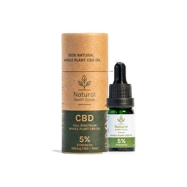 Full Spectrum 500mg CBD Oil 5% - Natural Health Goods