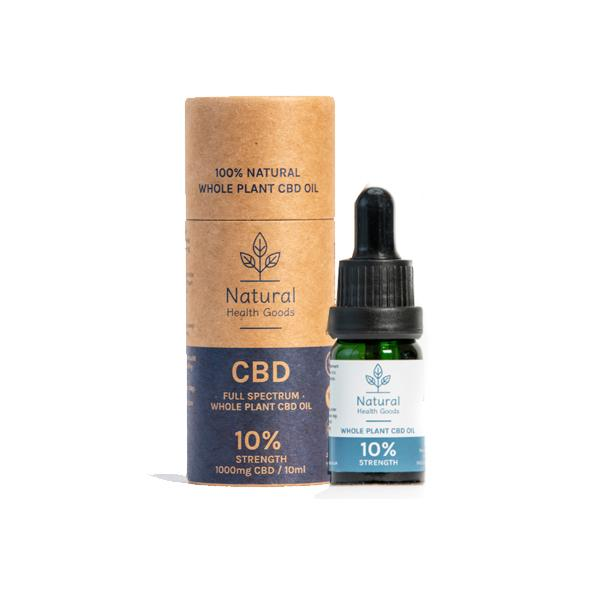 Full Spectrum 1000mg CBD Oil 10% - Natural Health Goods
