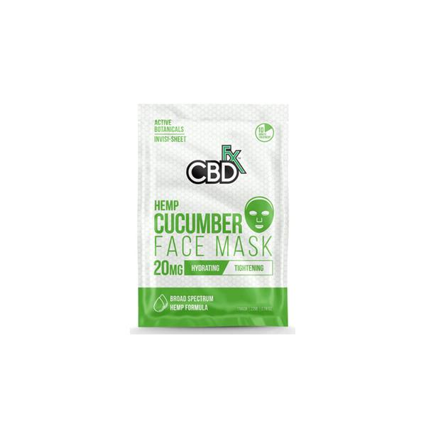 CBD FX 20mg Cucumber Face Mask