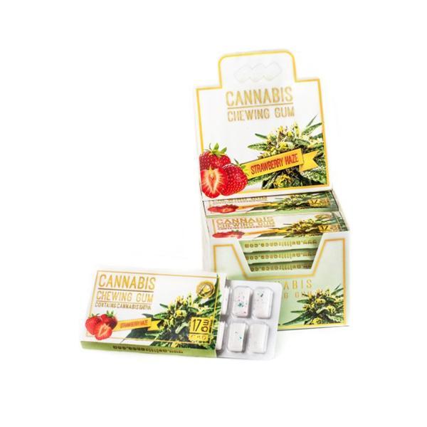 CBD Chewing Gum - 17mg - Strawberry Haze