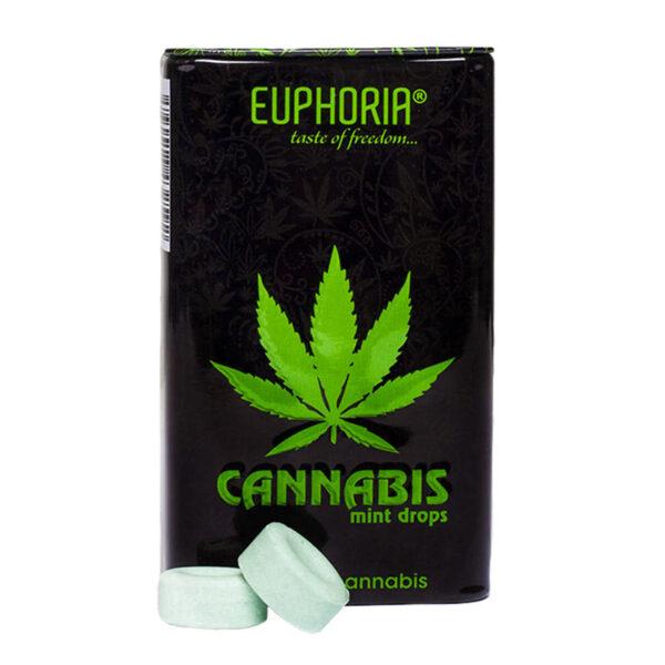 Real Cannabis Mint Drops - Euphoria 48g